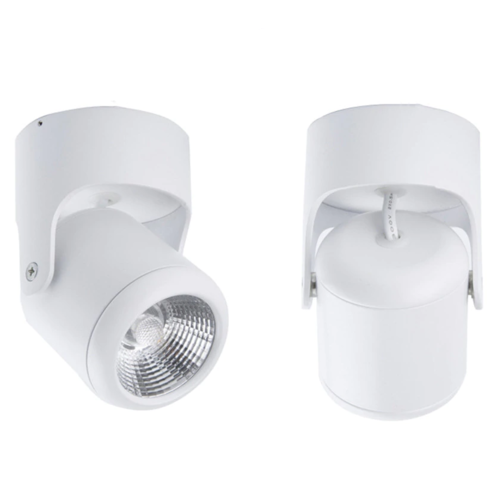 Luminaire rail plafond 7W LED blanc ou noir dimmable