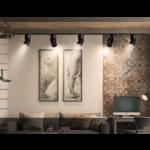 Lampe sur rail LED 20W noir ou blanc dimmable