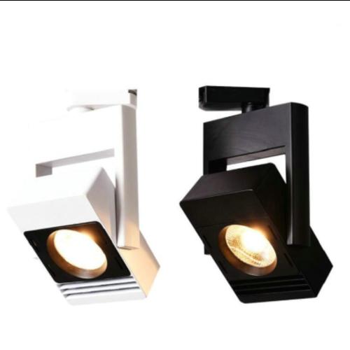 Luminaire rail LED magasin 30W blanc ou noir monophasé