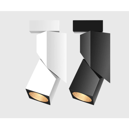 Luminaire sur rail ajustable LED 7W blanc ou noir monophasé