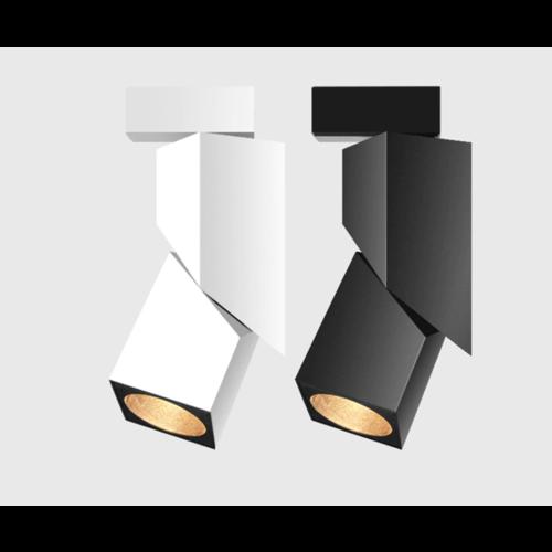 Verlichting rail spot 7W LED wit of zwart