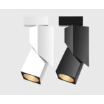Spot orientable sur rail 12W LED blanc ou noir monophasé