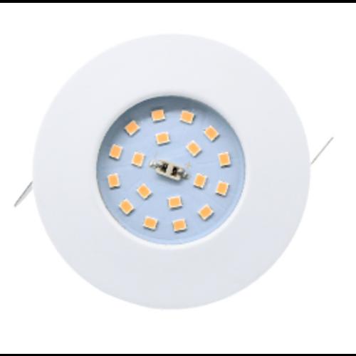 IP44 inbouwspot LED 5W boorgat 60mm wit of grijs geen trafo nodig