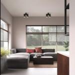 Dubbele plafondspot GU10 wit of zwart richtbaar 2x5W LED