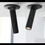 Cilinder spot 10, 20 of 30 cm LED 7W wit of zwart
