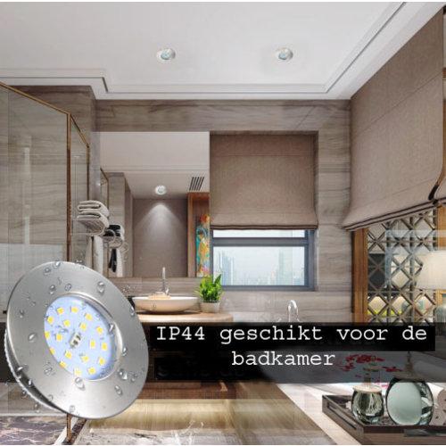 Spot encastrable salle de bain extra plat IP44 5W blanc ou gris faible profondeur