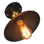 Vintage plafondlamp zwart E27 22, 26 of 30cm diameter