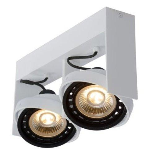 Dubbele plafondlamp LED 2x12W wit of zwart dim to warm