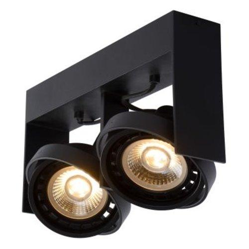 Spot plafond moderne double LED 2x12W blanc ou noir dim to warm