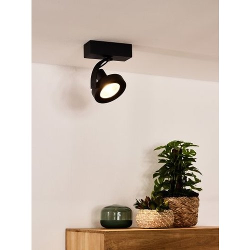 Spot plafond noir LED 12W GU10 dim to warm