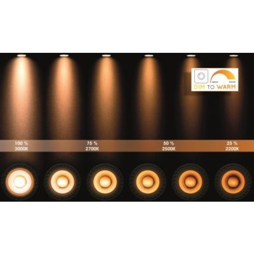 2 spot plafondlamp zwart LED 2x12W dim to warm