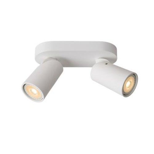 Spot double plafond orientable 2x5W LED dim to warm blanc ou noir