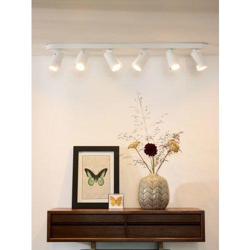 6 spots lamp plafond 6x5W LED dim to warm wit of zwart