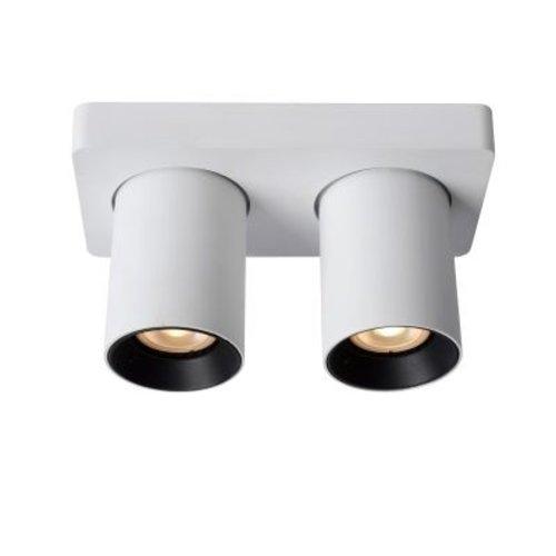 Plafonnier 2 spots LED 2x5W dim to warm blanc ou noir