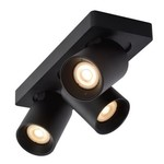 Plafondlamp met spots 3x5W LED dim to warm zwart of wit