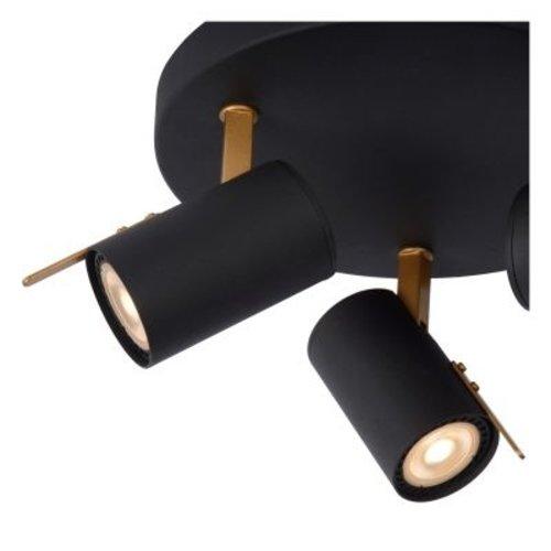 Lampe 3 spots orientables 3x5W LED dim to warm noir
