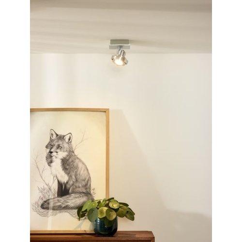 Verstelbare plafondlamp 1x5W LED dim to warm wit of grijs