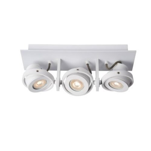 Plafonnier triple 3x5W LED dim to warm blanc ou gris