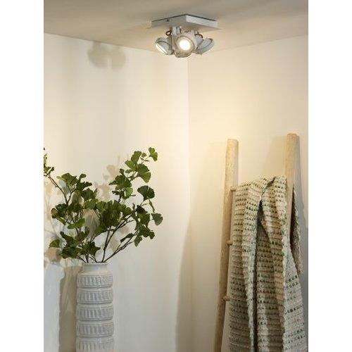 Plafondspot woonkamer 4x5W LED dim to warm wit of grijs