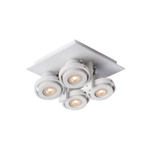 Plafonnier 4 spots orientables 4x5W LED dim to warm blanc ou gris