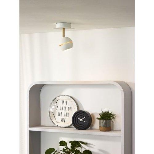 Spot plafond saillie 1x4,5W LED noir doré ou blanc doré