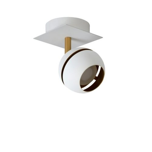 Plafondlamp bol 1x4,5W LED zwart goud of wit goud
