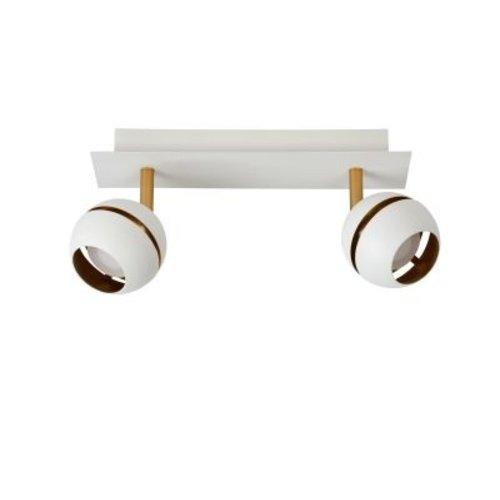 Luminaire spots orientables 2x4,5W LED noir doré ou blanc doré