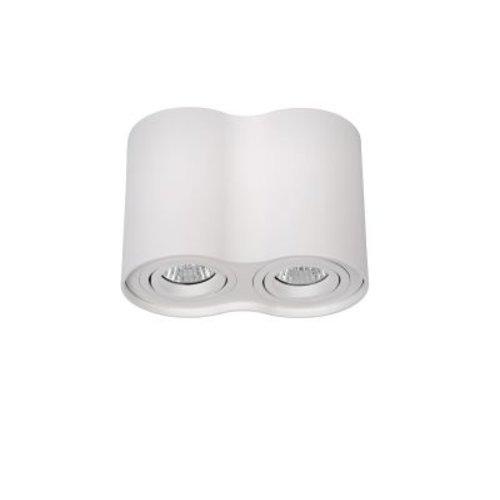 Luminaire 2 spots 2xGU10 blanc ou gris 230V