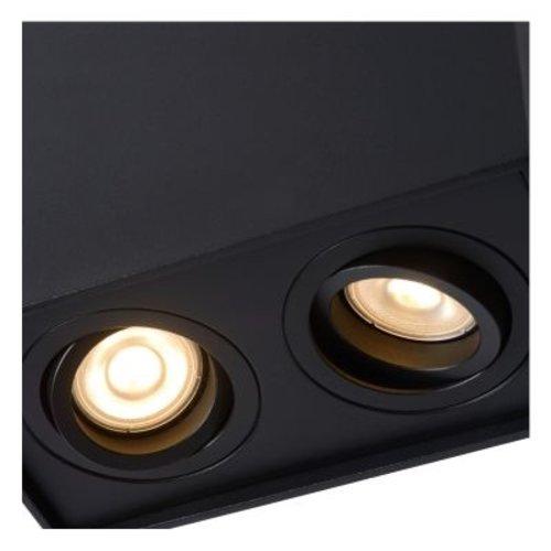 Plafondlamp GU10 x2 wit of zwart 230 V