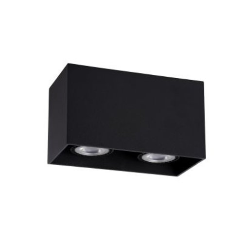 Spot plafond couloir 2xGU10 blanc, gris ou noir