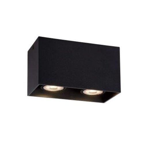 Plafondlamp toilet 2xGU10 wit, grijs of zwart