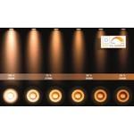 Luminaire 3 spots LED 3x5W GU10 dim to warm blanc-noir ou noir