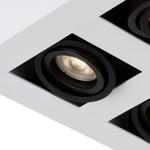 Luminaire 4 spots 4x5W LED dim to warm blanc-noir ou noir orientable