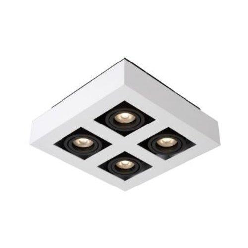 Plafondlamp 4 spots 4x5W LED dim to warm zwart of wit zwart