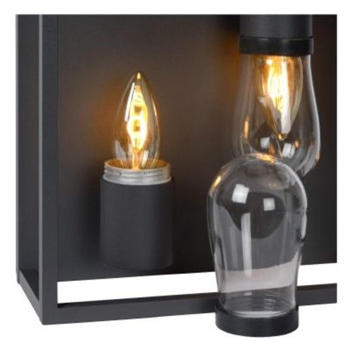 Badkamerlamp plafond wit of zwart 2xE14 IP54