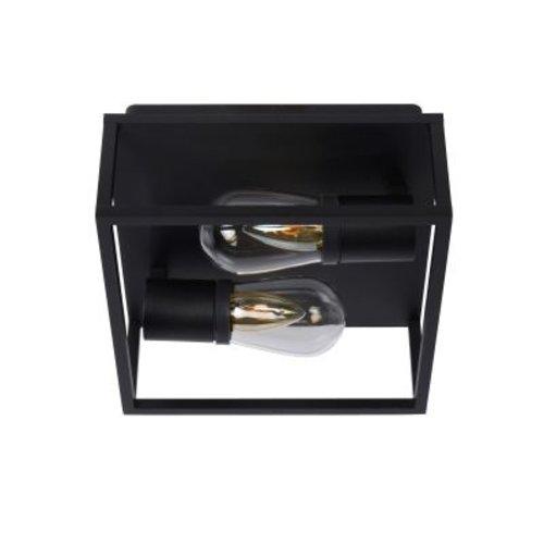 Plafonnier pour salle de bain blanc ou noir 2xE14 IP54