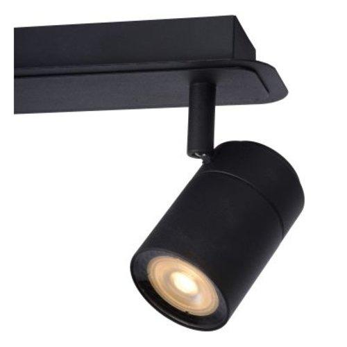 Plafondlamp IP44 2x5W GU10 zwart richtbaar dimbaar