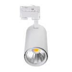 Spot sur rail LED triphasé 30W 4000 lumen noir, blanc transfo Philips
