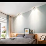Double spot encastrable 2x10W LED blanc, noir dimmable peu profond