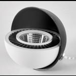 Spot encastrable double 2x15W LED dimmable noir, blanc faible hauteur