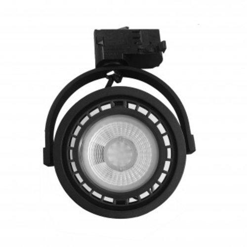 Luminaire sur rail noir GU10 triphasé AR111