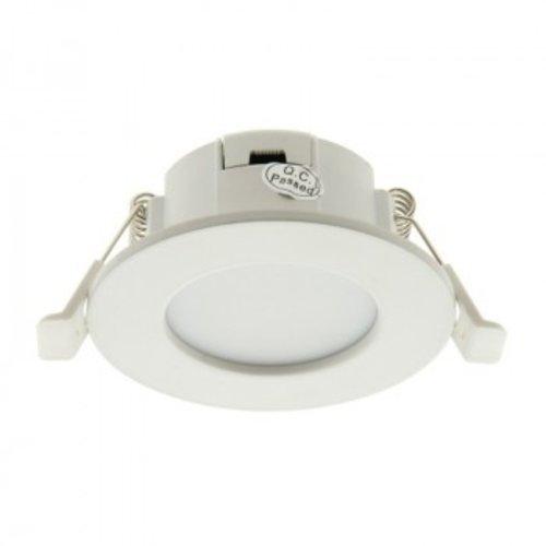 Spot salle de bain encastrable IP44 LED 7W CCT perçage 75mm