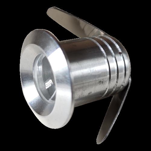 Mini spot LED encastrable plafond 1W scie 20mm gris, noir, blanc IP65