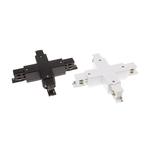Connecteur X pour rail triphasé blanc ou noir