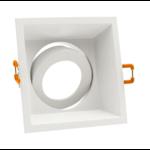 Inbouwspot wit vierkant GU10 zaagmaat boorgat 90 mm x 90 mm richtbaar