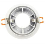 Inbouwspot vierkant GU10 wit zaagmaat 75 mm x 75 mm richtbaar