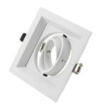 Spot encastré carré GU10 diamètre perçage 110x110 mm blanc inclinable