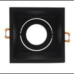 Spot encastrable carré noir GU10 perçage 90 x 90 mm orientable
