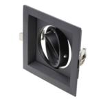 Downlight zwart vierkant GU10 zaagmaat 110 x 110 mm