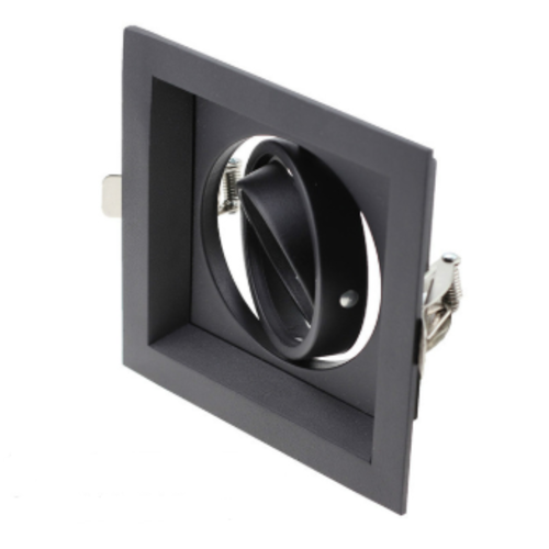Downlight carré noir GU10 perçage 110 x 110 mm